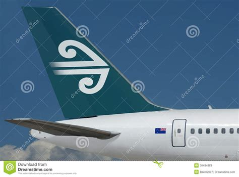 Air New Zealand Sky by Air New Zealand Plane Sky Editorial Stock Photo Image