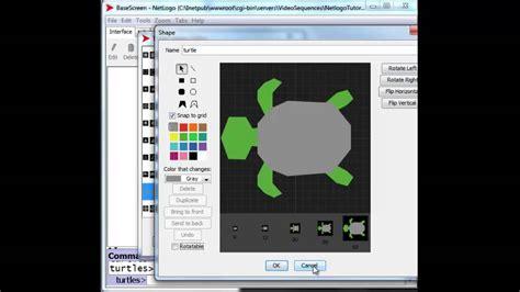 netlogo tutorial youtube turtle shapes editor youtube