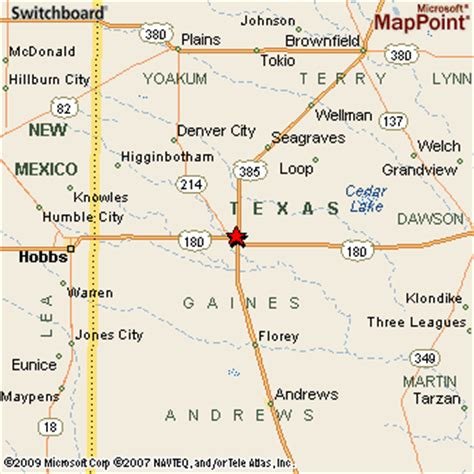 seminole texas map seminole texas