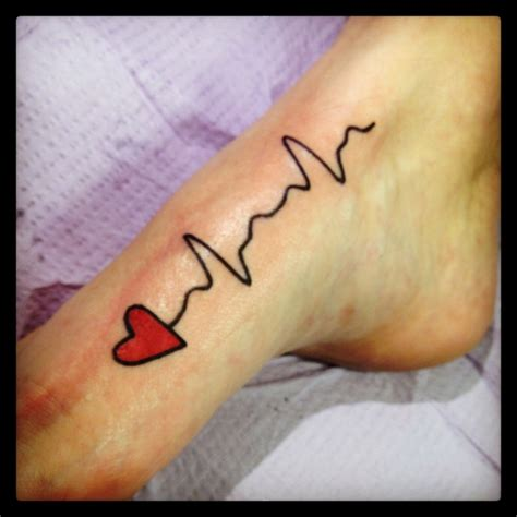 inside foot tattoo 1000 images about ekg on