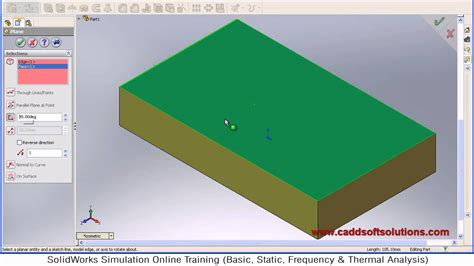 solidworks tutorial creating plane solidworks angled plane tutorial youtube