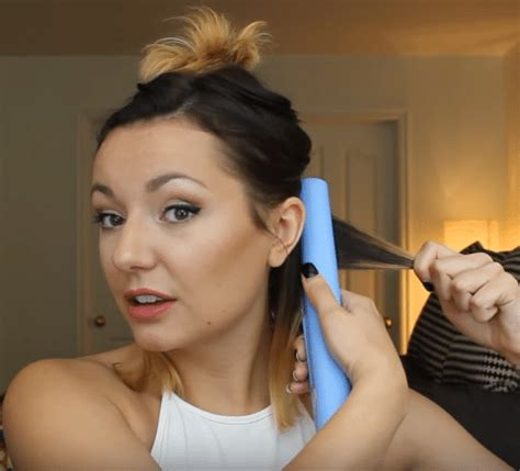 how to curl short hair with a flat iron beauty hair guide