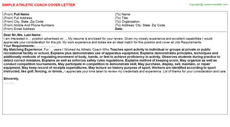 Swim Coach Cover Letter by Swim Coach Cover Letter Sle Cover Letter Athletic Coach Cover Letter Sports Coach Cover