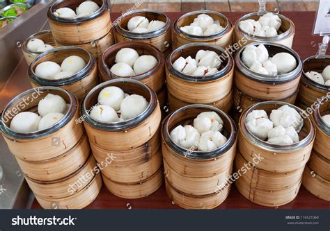 Bamboo Dimsum bamboo dim sum steamer stock photo 116521069