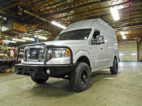 nissan nv3500 custom nissan nv winch bumper aluminess