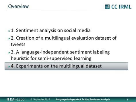 language independent language independent twitter sentiment analysis