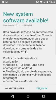 brazilian moto g 1st gen getting android 5.1 + stagefright
