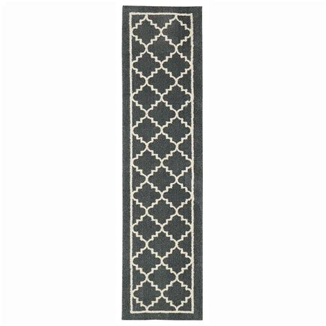 8 foot runner rug home decorators collection winslow slate 2 ft x 8 ft rug runner 492755 the home depot
