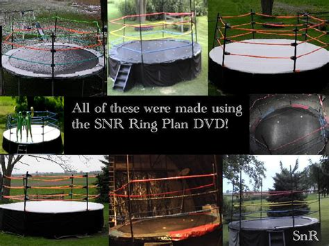 how to make a backyard wrestling ring how to convert a troline into a full size pro wrestling