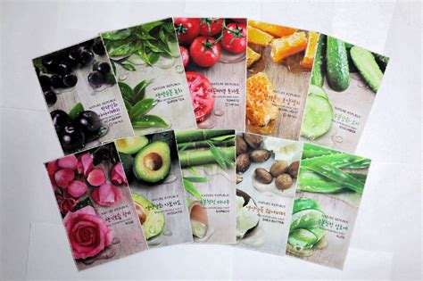 Nature Republic Real Nature Mask jual nature republic real nature mask sheet korean