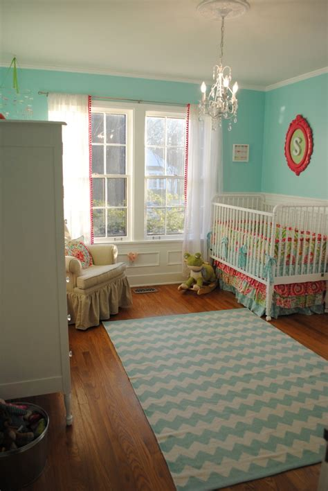 green and pink nursery aqua pink and green whimsical nursery project nursery