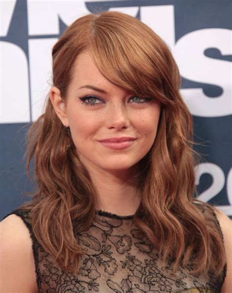 emma stone forehead auburn hair 10 stars with auburn colored hair