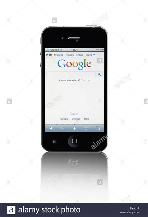 google images on iphone apple iphone 4 3g mobile phone with google website touch