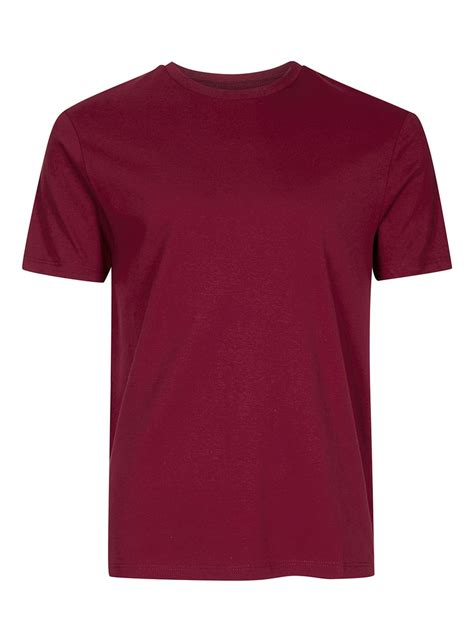 t shirt burgundy slim fit t shirt topman usa