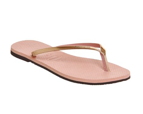 light pink womens womens havaianas slim you metallic flip flop light pink