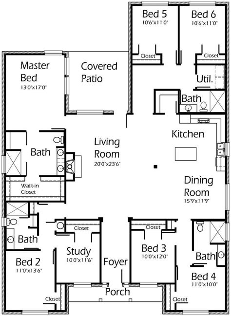 5 bedroom floor plans best of simple 5 bedroom house plans new home plans design
