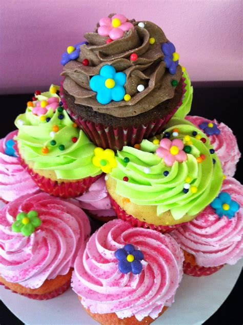 Cupcake Cake by The Dessert Stacked Cupcake Cakes