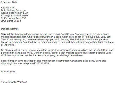 Contoh Surat Lamaran Cpns Kemendikbud by Contoh Surat Lamaran Cpns Lowongan Kerja Terbaru 2013