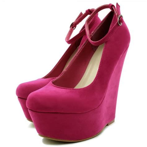 buy wedge heel suede style ankle platform court