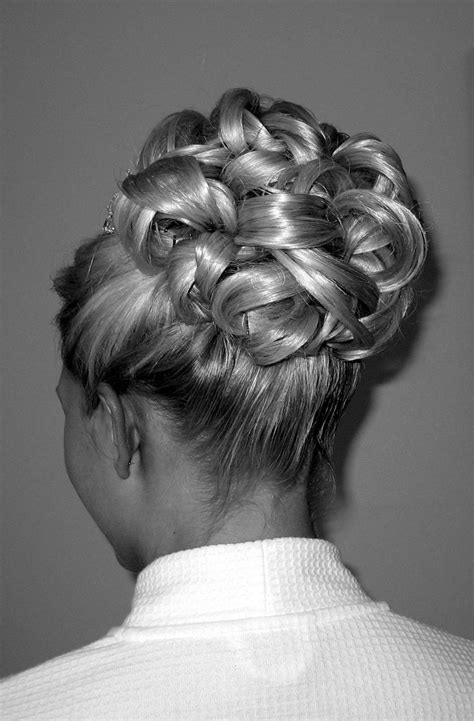 barrel curl weave hair interwoven barrel curls bridal hairstyle by