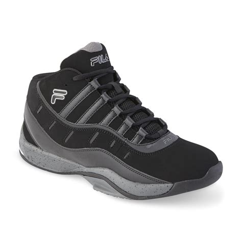 wide high top basketball shoes fila s city wide 2 black silver high top basketball