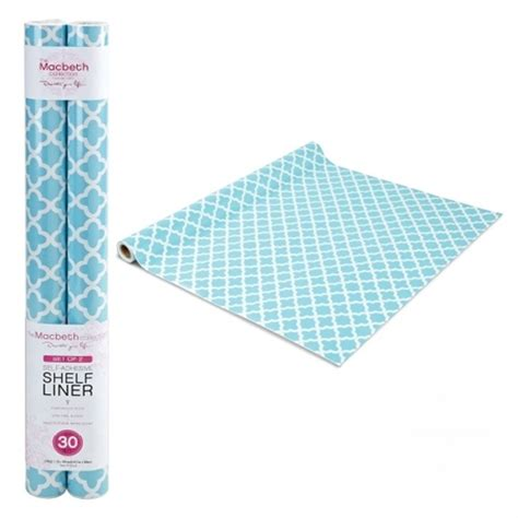 Paper Shelf Liner by Self Adhesive Shelf Liner Aqua Designer Decor Stick