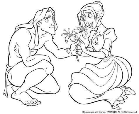 coloring page tarzan coloring pages 4
