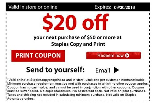 staples coupon 2018 code