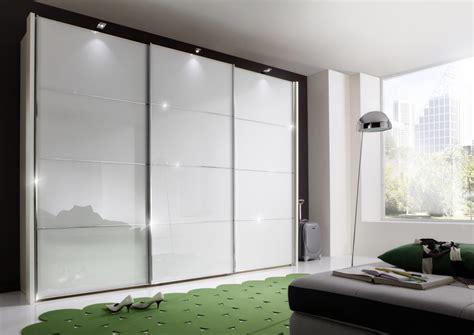 sliding glass wardrobes wiemann miami 2 sliding wardrobe with white glass modish