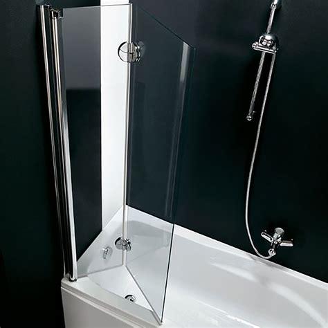 parete pieghevole per vasca da bagno parete per vasca 120 cm pieghevole in cristallo