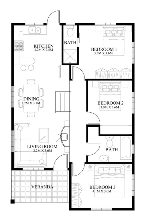 floor plans for small house design 2014005 eplans modern house