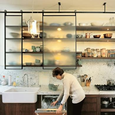kitchen cabinets with sliding doors 11 clever alternatives to kitchen cabinets like the idea