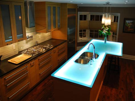 Glass Top Kitchen Island | glass island contemporary toronto by cbd glass studios