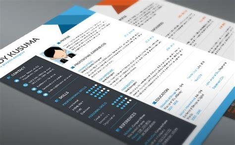 free modern resume templates 2015 10 new fashion resume cv templates for free