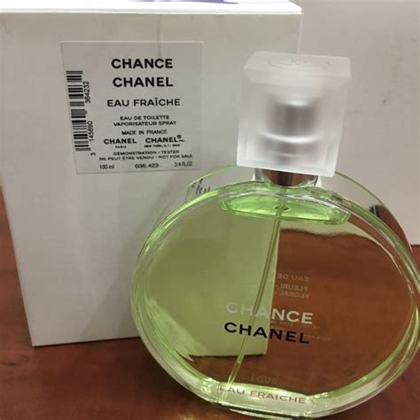Chanel Chance Edt 100ml Original chanel chance eau fraiche edt 100ml tester packaging