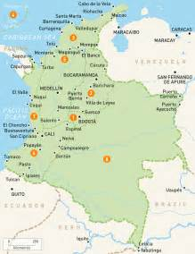 map of colombia colombia regions guides