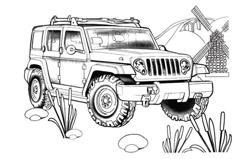 coloring page of a jeep jeep rescue coloring page gif 809 215 539 jeep beach kids