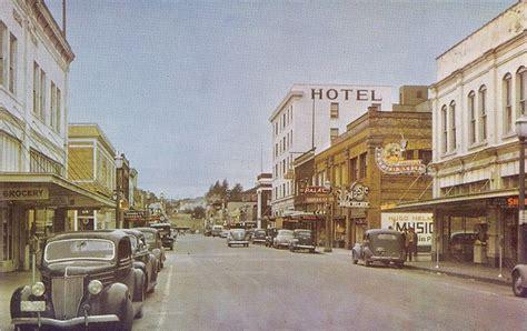street downtown mount vernon wa vintage postcard