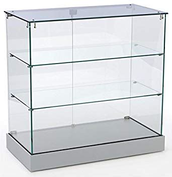 tempered glass cabinet shelves amazon com retail display cabinet with frameless design