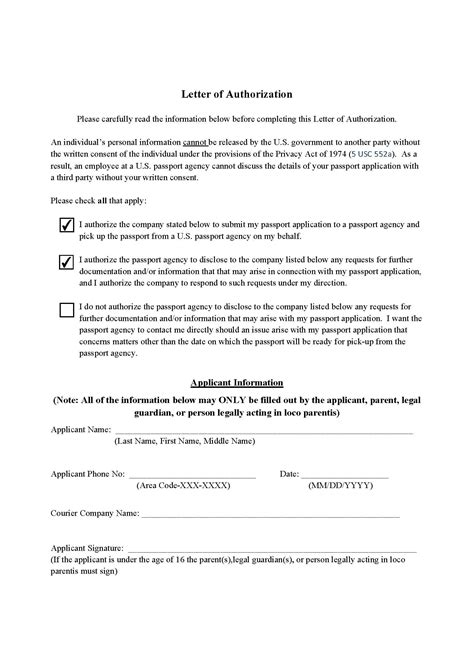 authorization letter for application visa bcv visa and passport expeditors renewal of passport