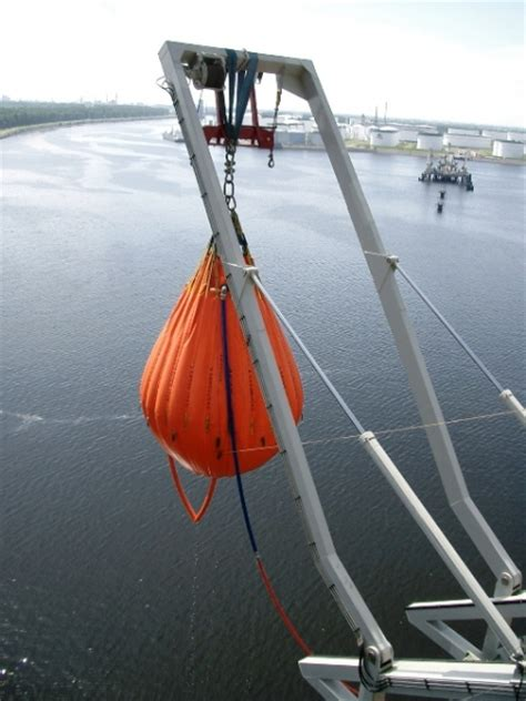 free fall boats proofload free fall life boat bags test system