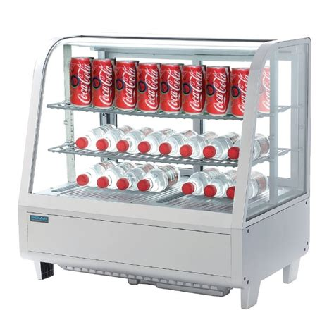 polar countertop refrigerated display white 100 litre