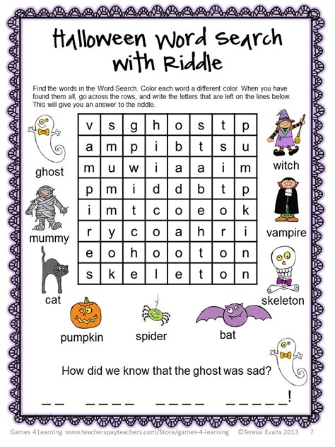 printable halloween puzzle games fun games 4 learning halloween literacy freebies