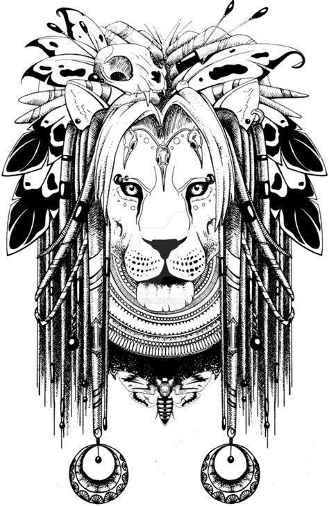 shaman lion by quidames on deviantart