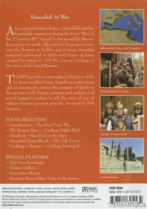 History Of Warfare history of warfare the hannibal the punic wars dvd