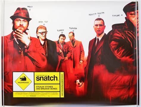 jason statham and brad pitt film snatch 2000 original quad movie poster brad pitt