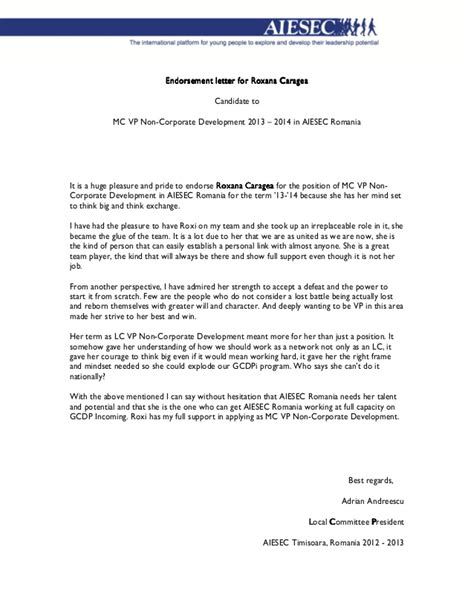 Endorsement Letter For Nomination 4 1 Endorsement Letter For Roxana Caragea Adrian Andreescu