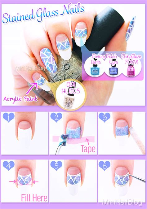 Stained Glass Nail Tutorial stained glass nails nailbees