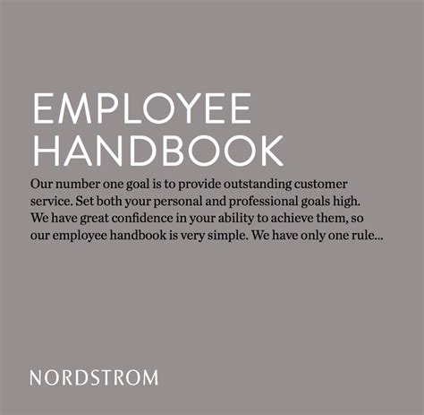 Nordstrom Rack Policy by Nordstrom S Employee Handbook Is A Single Sentence