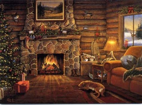 christmas fireplace wallpaper  grasscloth wallpaper